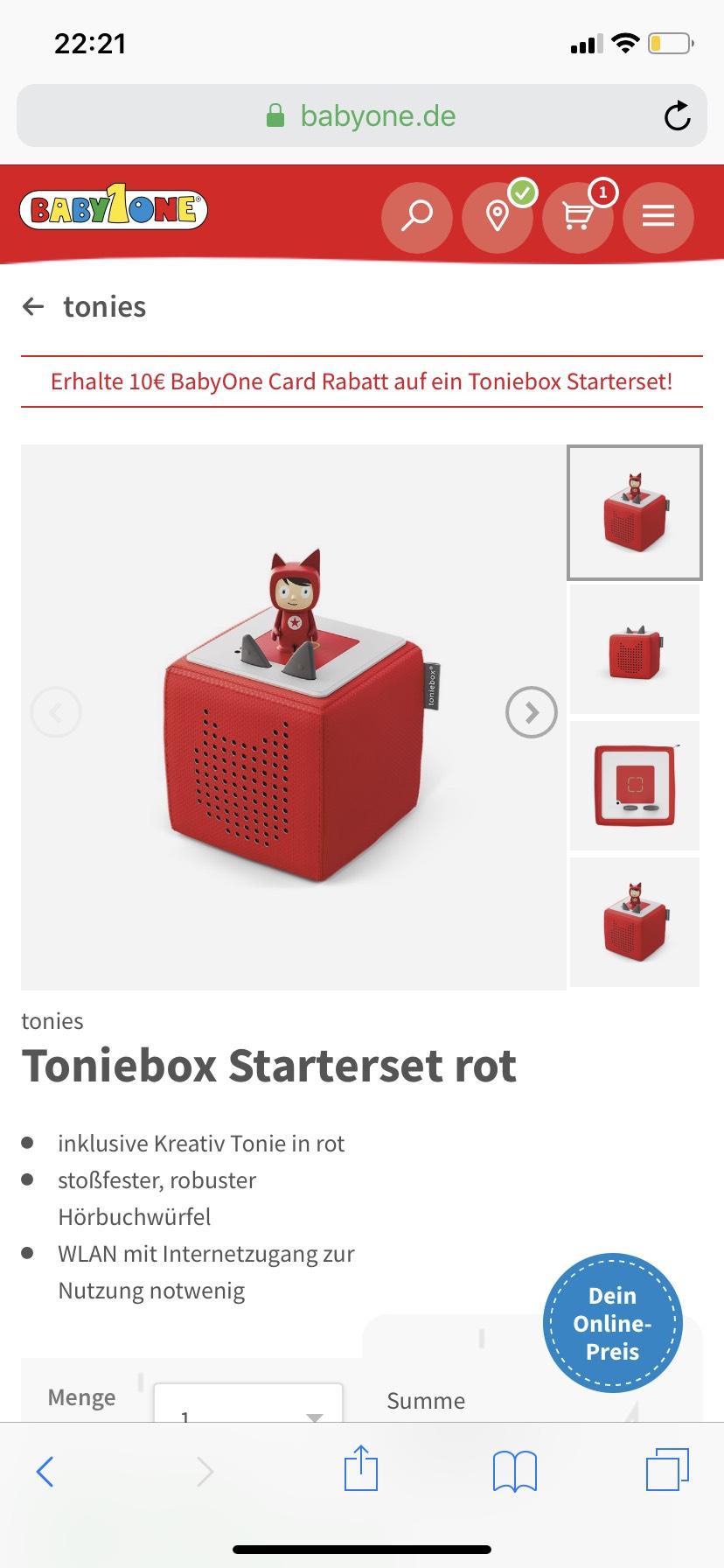 Toniebox für 69,99€