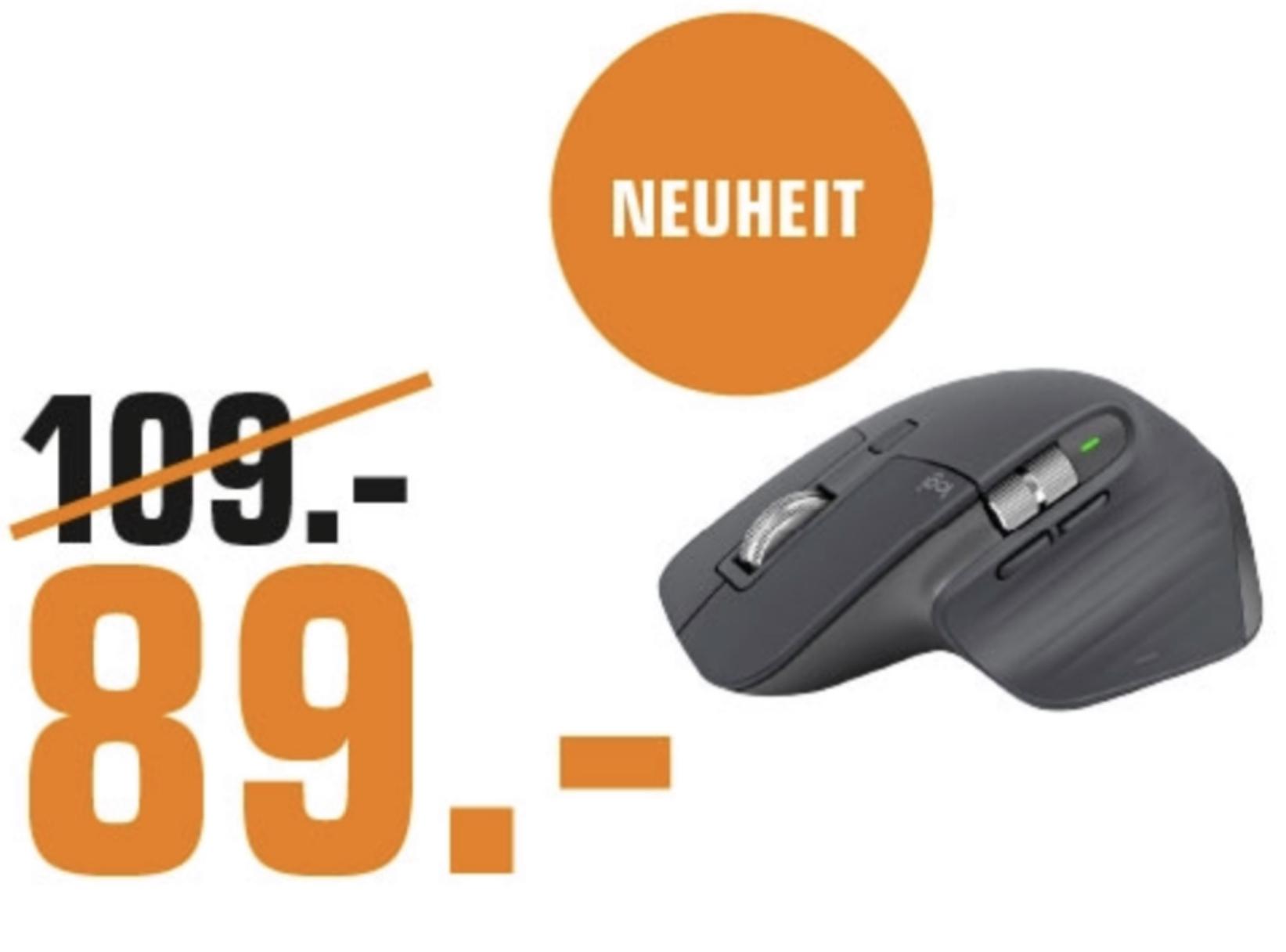 Lokal Saturn Remscheid: Logitech MX Master 3 Bluetooth Maus Neues Modell 2019 für 89€ usw. - ab 04.10.