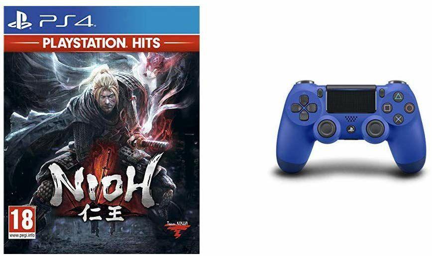 Sony DualShock 4 V2 Controller + Nioh (PS4) für 45.51€ (Amazon.fr)