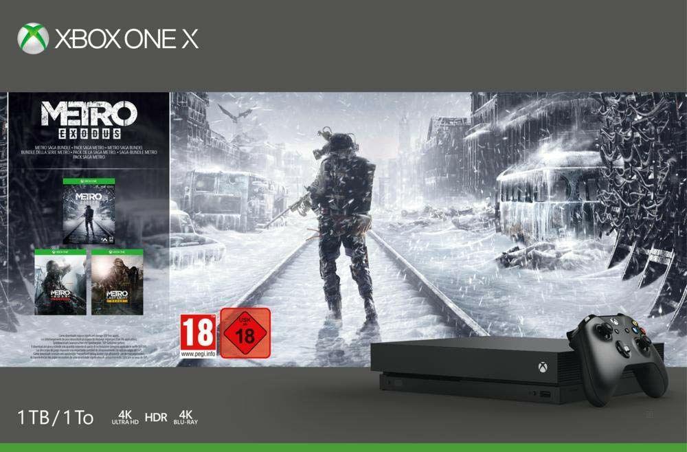 Microsoft Xbox One X 1TB Metro Saga Bundle (Exodus, 2033 Redux, Last Light Redux + Wireless Controller) schwarz