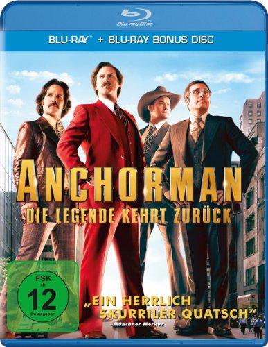 Anchorman - Die Legende kehrt zurück (Blu-ray + Bonus Blu-ray) für 4,99€ (Amazon Prime & Müller)