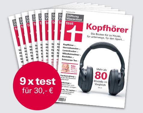 """[Stiftung Warentest] 9 Ausgaben test + Finanztest """"das Vorsorge-Set (i.W.v. 14,90 €) + Notizbuch für zusammen 30 €"""