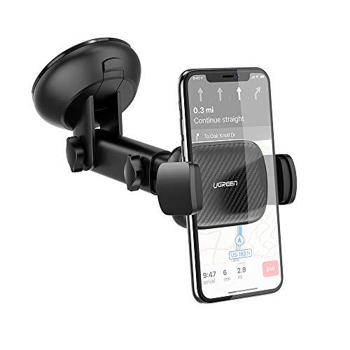 """Ugreen Handyhalterung für Windschutzscheibe & Armaturenbrett (für Geräte von 4.7-7.12"""", 360°-Kugelgelenk, Arm verstellbar, Saugnapf) [Prime]"""