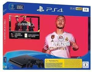 Sony PlayStation 4 (PS4) Slim 1TB + FIFA 20 Ultimate Team + 2 Controller - real Family & Friends (ohne F&F 325€)
