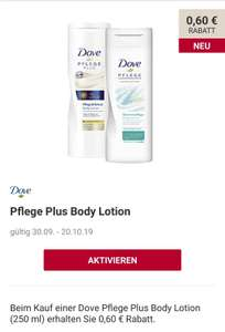 Rossmann Green Label Dove Pflege Plus Bodylotion