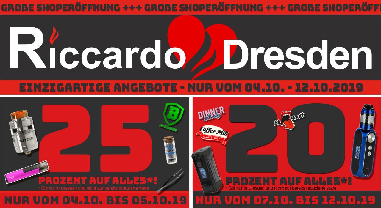 [Riccardo] 25% Rabatt auf alles (Dresden) - In allen anderen Stores: 15% - ONLINE 15%