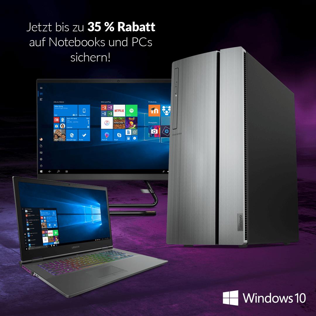 Alternate: Windows EoS-Gutscheinaktion (Notebooks/PCs bis zu -35%) [Sammeldeal]