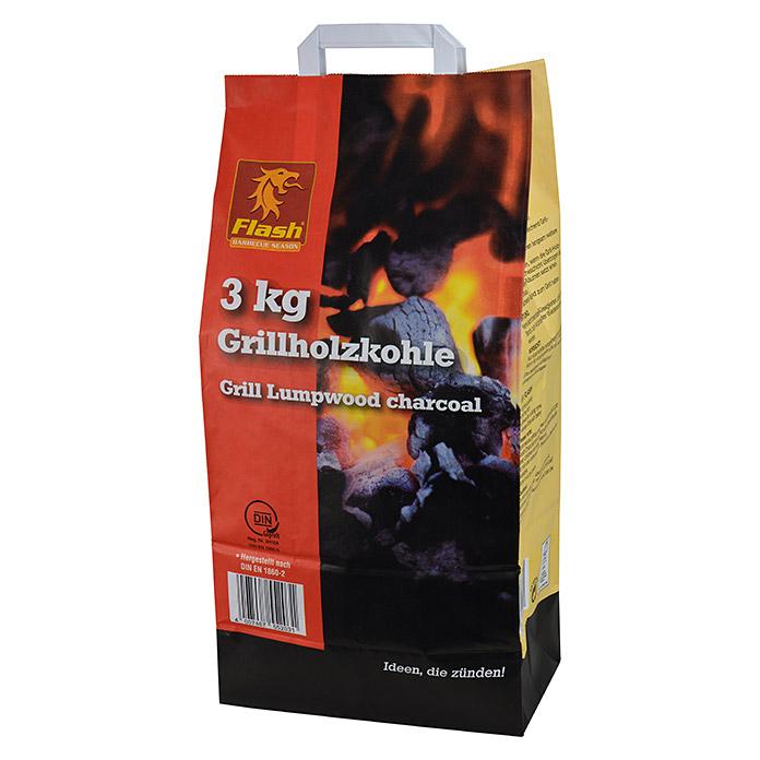 [Bauhaus lokal] Flash Grill Holzkohle (3kg) 0,50€ je Packung / 0,17€/kg