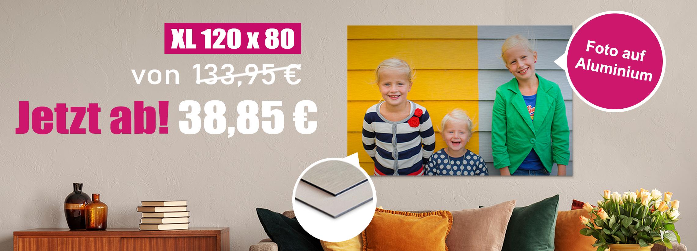 XL-Foto auf Aluminium 120x80 cm ab 38,85 €