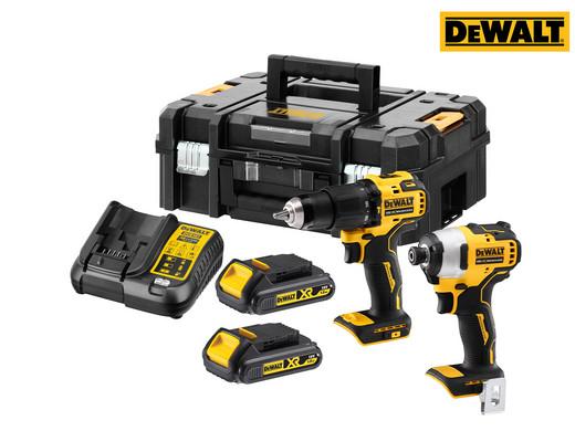 """DeWalt 18V-Set """"DCK2062S2T-QW"""" (Schlagbohrschrauber DCD709 + Schlagschrauber DCF809, 2x 1.5Ah-Akkus, XR-Ladegerät, TSTAK-II-Koffer) [iBOOD]"""