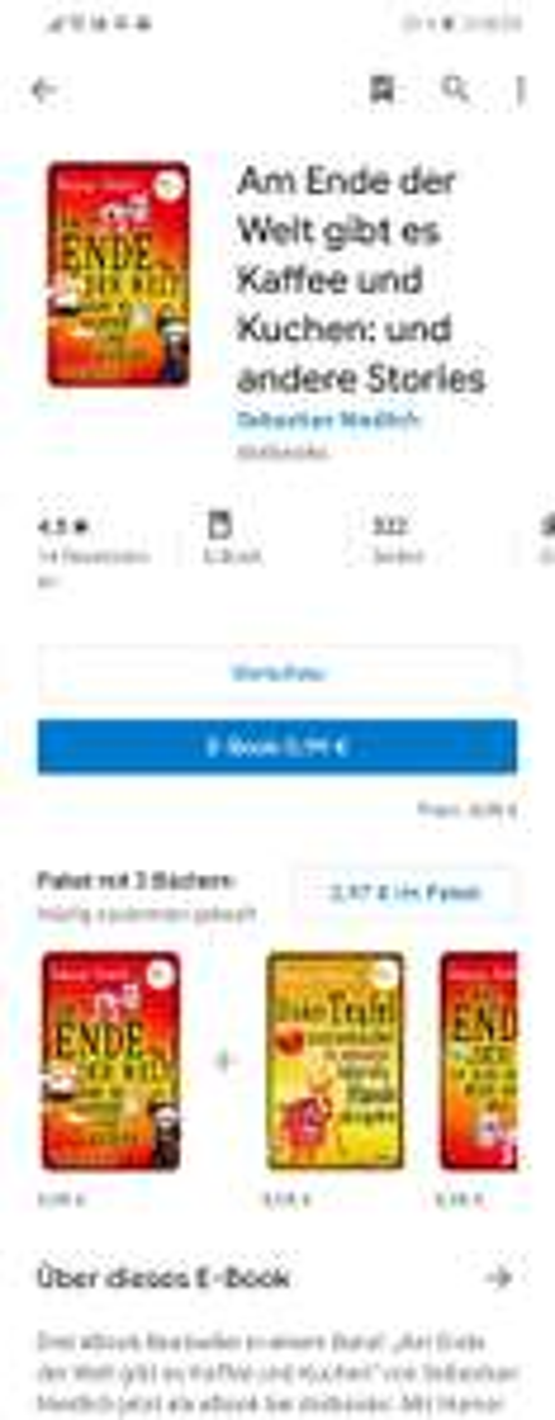 Reduziertes Ebook bei google play store