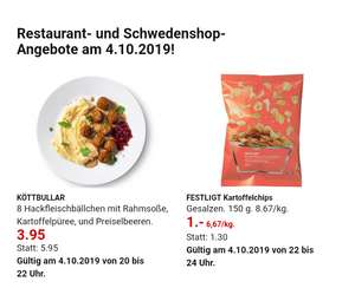 [IKEA Bielefeld?]5€ Rabatt bei 20€ Einkauf am 4.10. Nach 22 Uhr