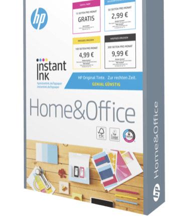 5x HP Home & Office Instant Ink Din A4 210 x 297 mm a 500 Blatt Multifunktionales Büropapier incl. Versand