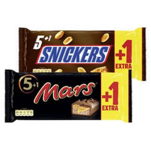 Twix, Mars, Snickers 5+1 Packung bei EDEKA Rhein-Ruhr für 1,29€
