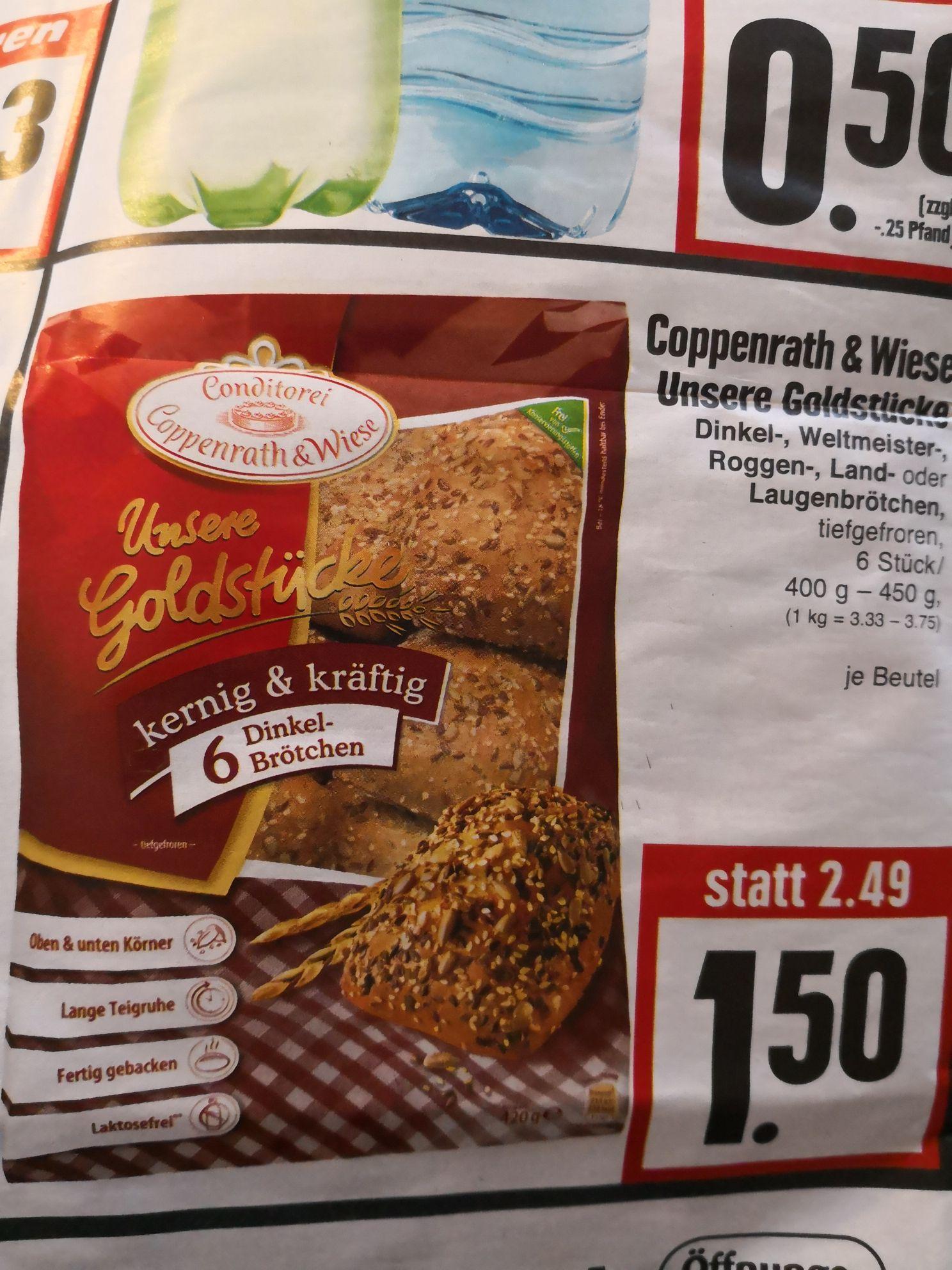 [EDEKA Hessenring] Coppenrath & Wiese Unsere Goldstücke z. B Dinkelbrötchen 1.50€ / Rockstar Energy mit Coupon 0,72€