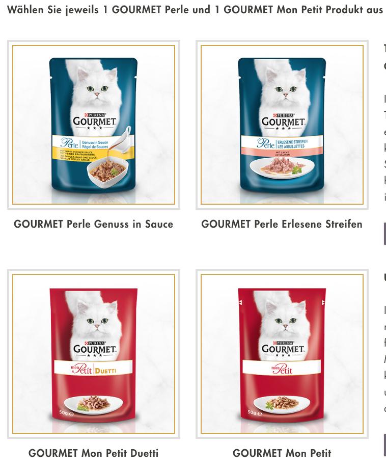 2 KÖSTLICHE PURINA GOURMET GRATISPRODUKTE für deine Katze