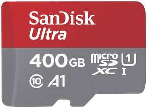 SanDisk 400GB Ultra A1 100MB/s Class 10 Micro SD SDXC Memory Card
