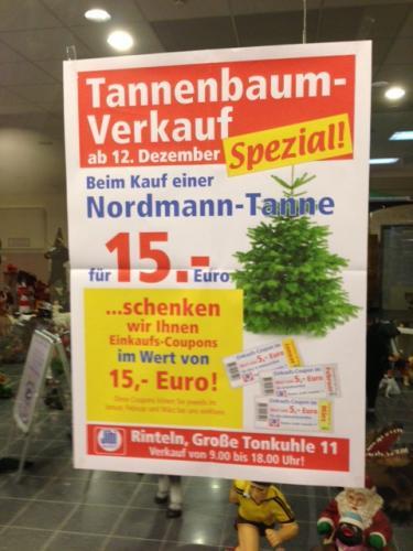 (Lokal?) Jibi für 15 € Weihnachtsbaum kaufen und für 15 € Gutscheine erhalten
