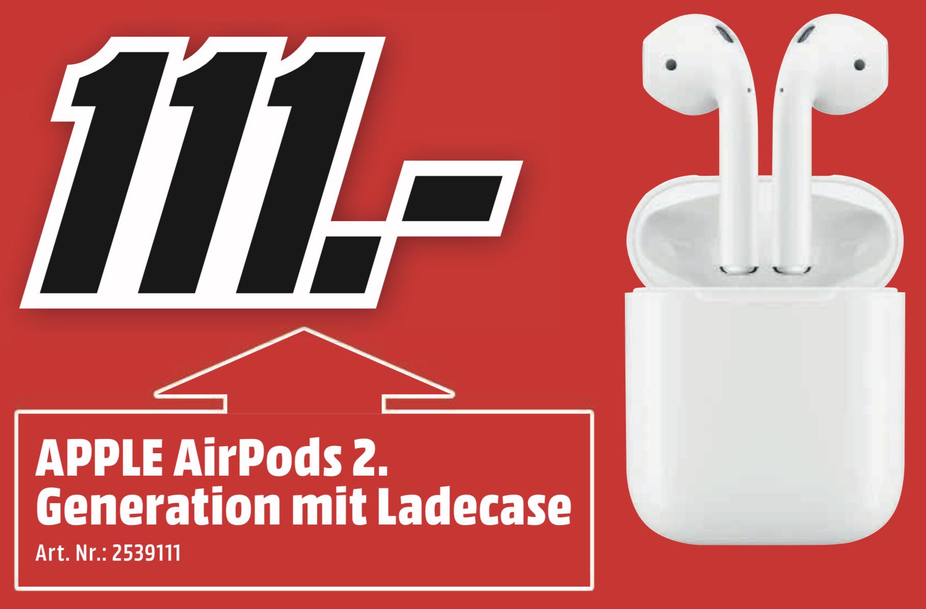 Lokal MM Amberg: Apple Airpods 2 für 111€ - Nur am Sonntag