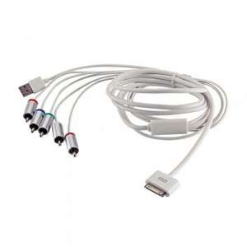 TV RCA Video Composite AV Kabel für iPad 3/2/1 & iPhone 4s/4/3GS/3G um 13,97€