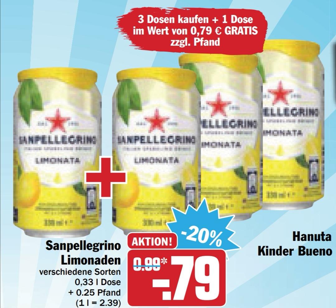 [Hit bundesweit ab montag] 4 Dosen San Pellegrino Limo für 3,16€ (entspr 63 Cent pro Dose)