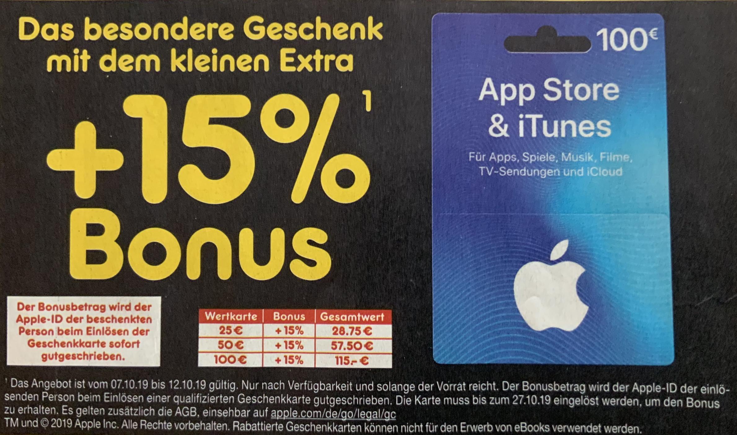 Netto MD: 15% zusätzliches Guthaben für iTunes & App Store - ab 07.10.
