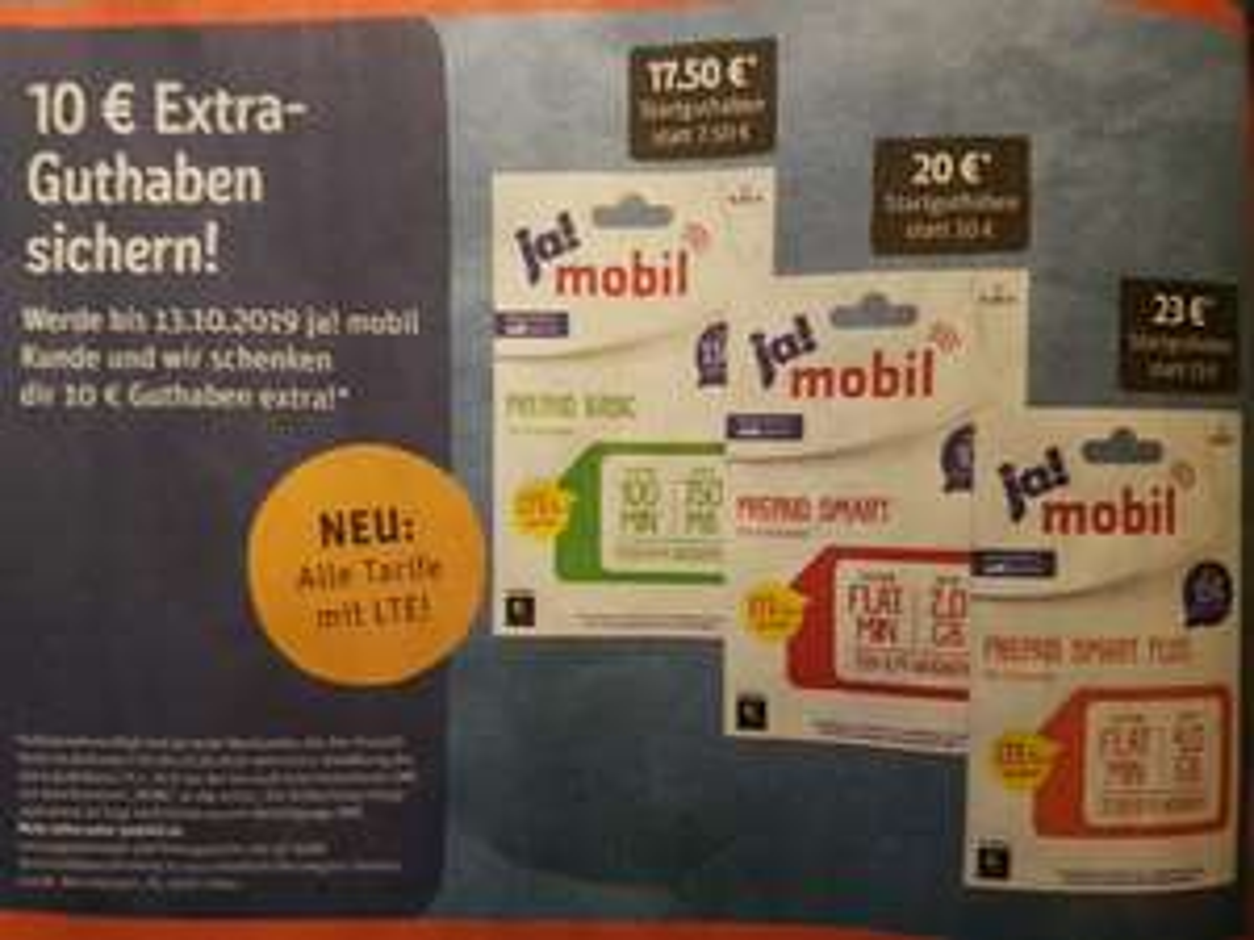 [Telekom-Netz] Rewe & Ja! Mobil Prepaid LTE 25: 10 € Extra Guthaben z.B 2 GB LTE + Allnet-Flat 7,99 € + bis zu 6 Monate gratis Tidal Premium