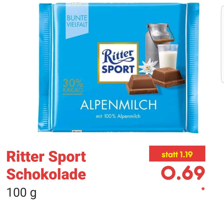 Netto MD Ritter Sport Schokolade für 0,69€