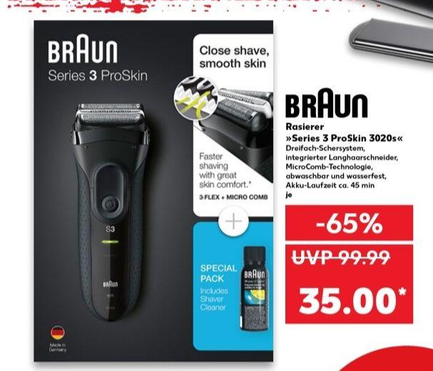 [Regional Kaufland Stadthagen] Braun 3020s Series 3 black ProSkin Special Pack für 35,-€ / Bademantel für 5,-€