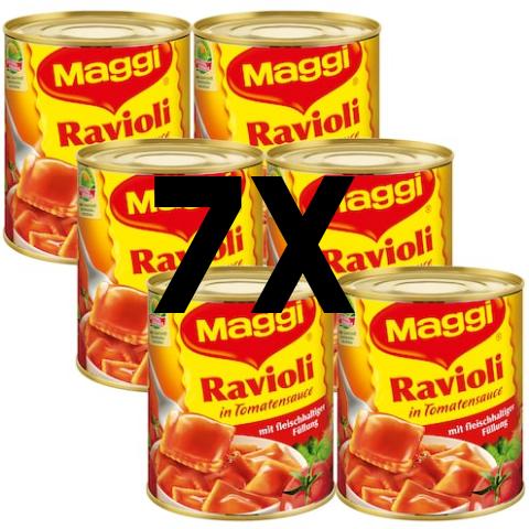 7x Maggi Ravioli - Dank Angebotspreis und Sofortrabatt (nur 0,98€ pro Dose)