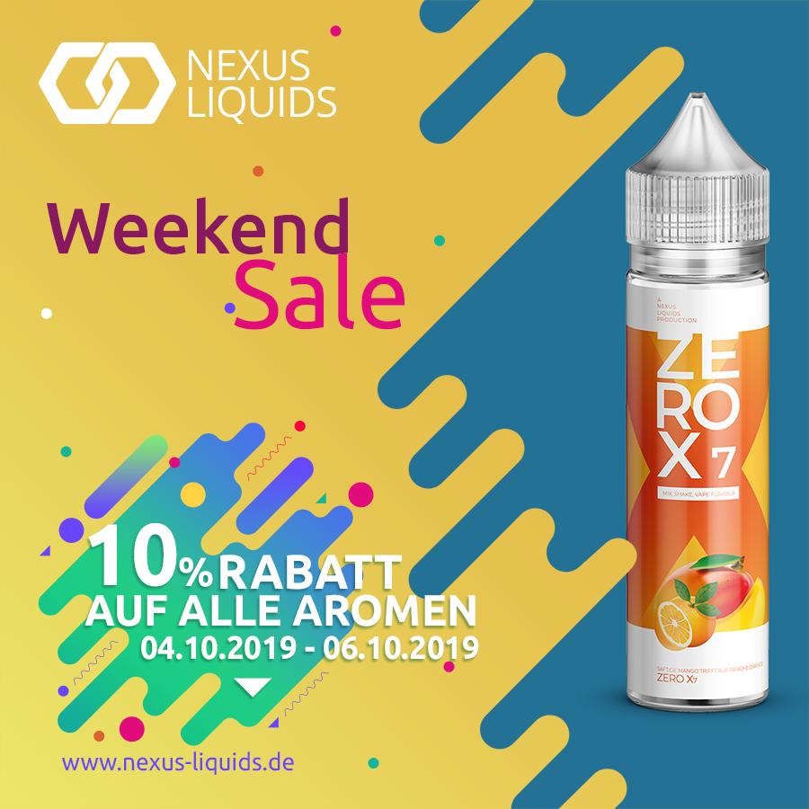 [Nexus Liquids] 10% Weekend Sale
