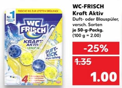 (Kaufland) 10x WC Frisch Kraft Aktiv für effektiv 5€ (durch Erhalt eines Einkaufsgutscheins)