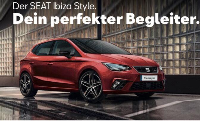 [Gewerbeleasing] Seat Ibiza Style 1.0 TSI 70 kW (95 PS) 5-Gang für mtl. 34,51€ brutto bei Tiemeyer