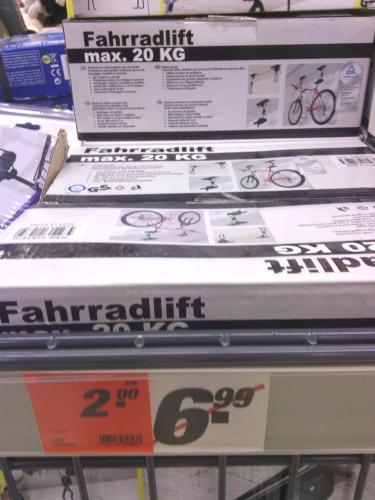 Fahrrad- Lift für Garage bei Toom Offenbach für 2 eur