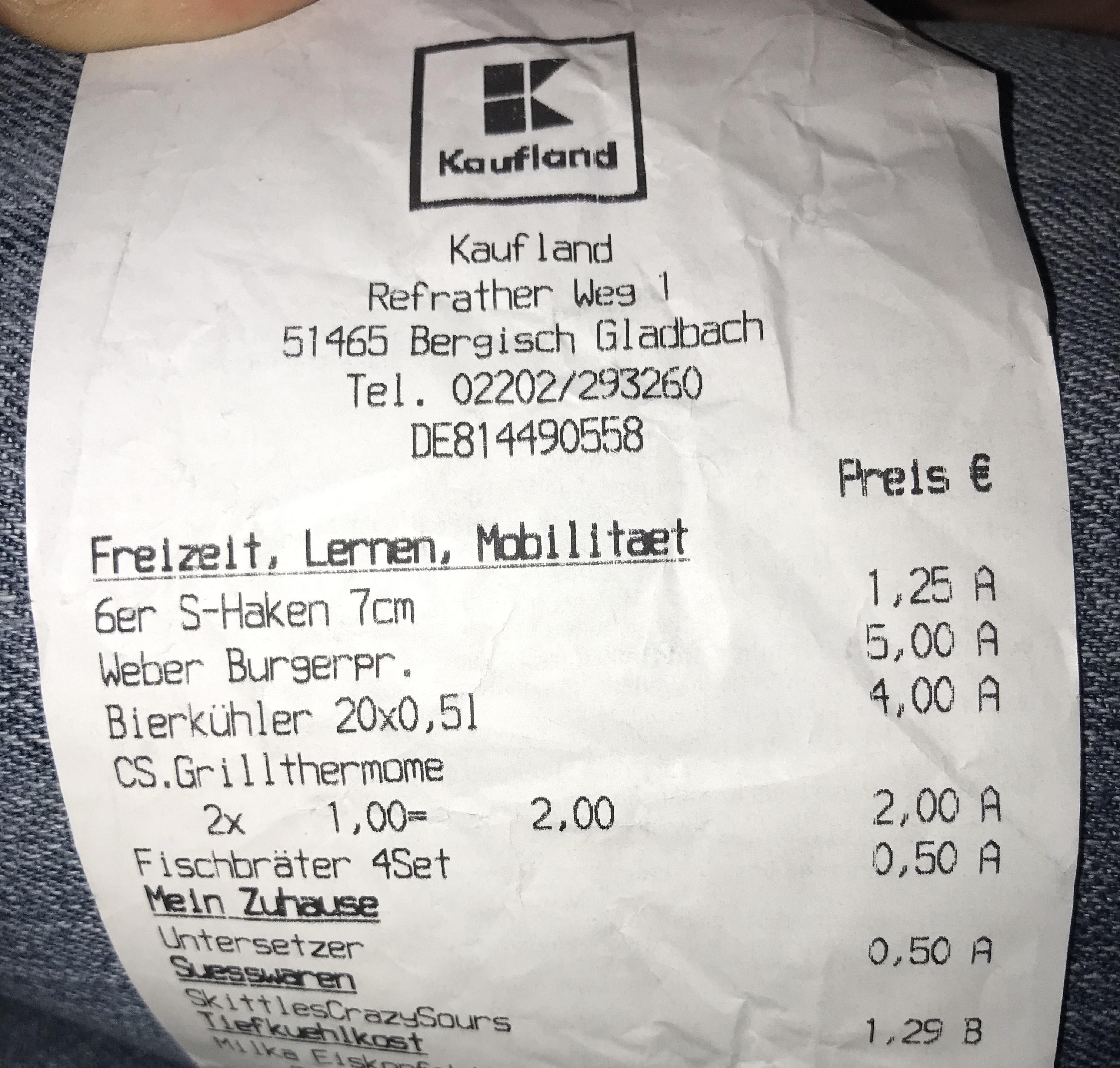 [Kaufland Bergisch gladbach (lokal?)] Weber burgerpresse