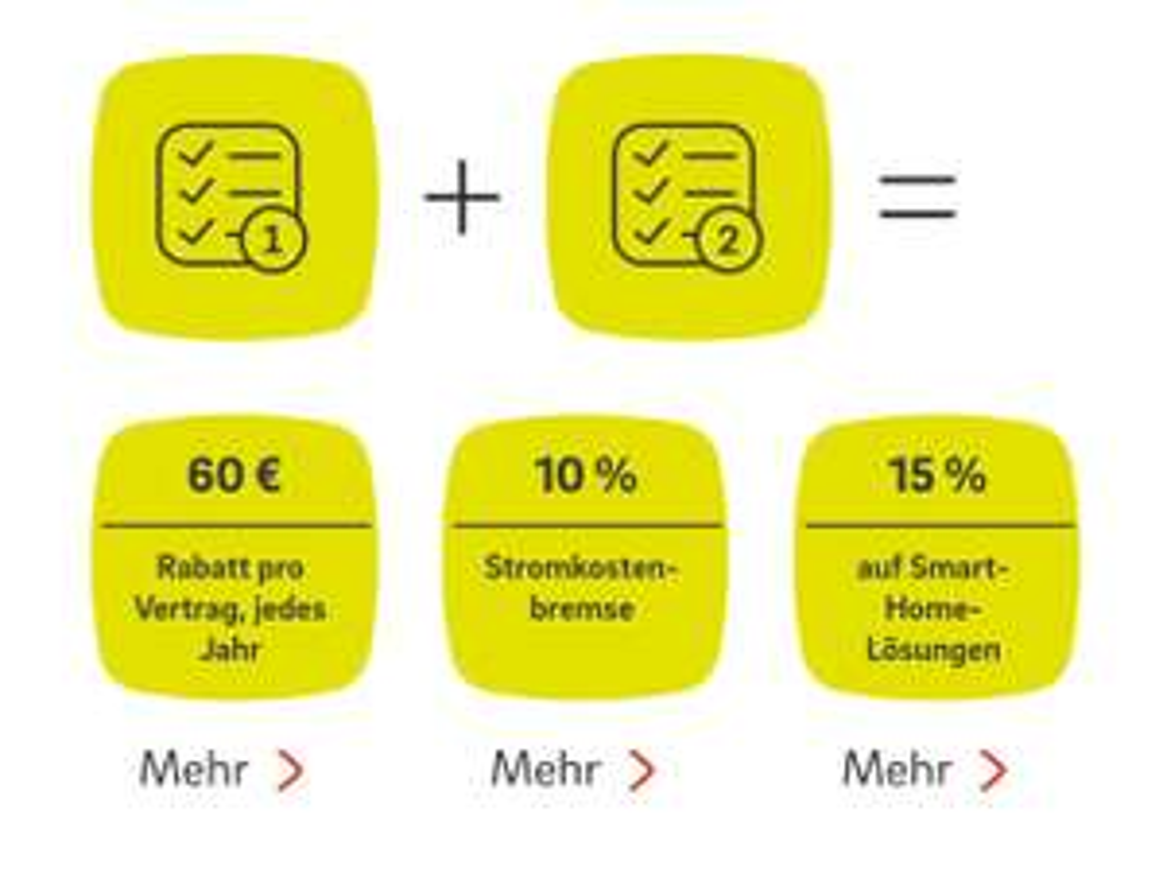 E.on Plus 60€ pro Vertrag jährlich extra sparen beim bündeln von 2 e.on Verträgen