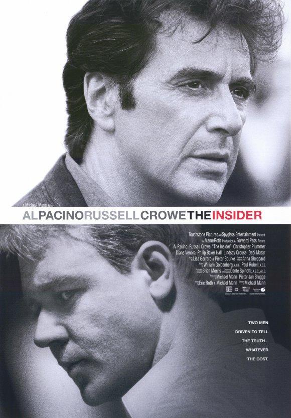 """""""Insider"""" (USA 1999) mit Al Pacino und Russell Crowe - kostenlos im Stream und als Download ab dem 25.10."""