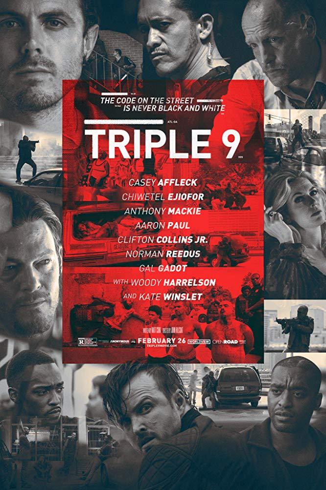 """""""Triple 9"""" (USA 2016) mit W. Harrelson, Aaron Paul, G. Gadot, Norman Reedus u.a. - kostenlos im Stream und als Download ab 14.10."""