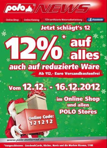 POLO Motorrad: 12% auf alles vom 12.12.-16.12.