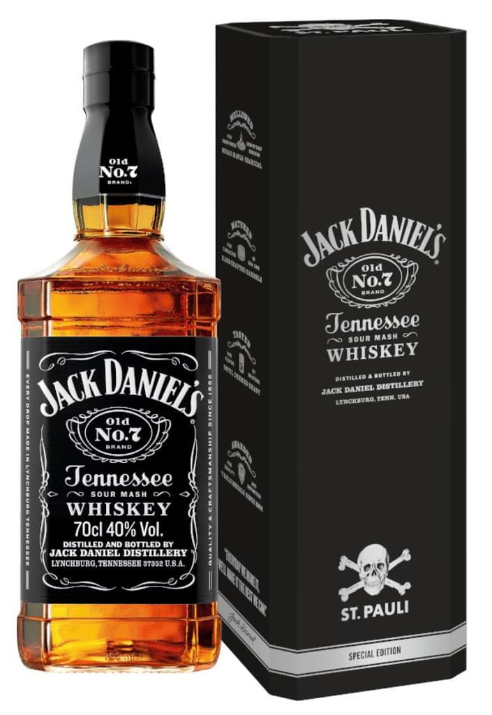 Jack Daniel's Whiskey - St. Pauli Special Edition - 0,7l 40% bei Marktanlieferung