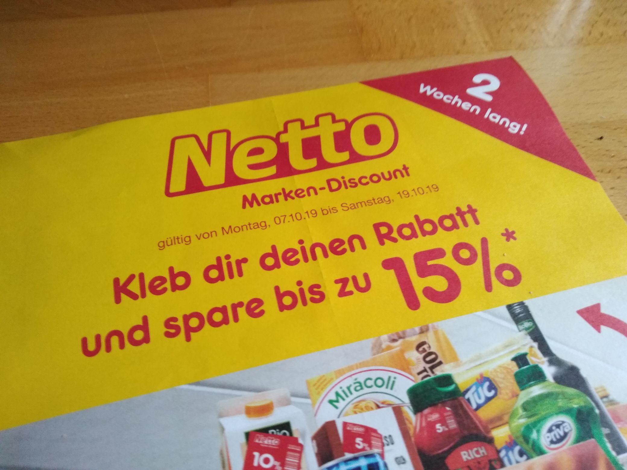 Netto Marken-Discount / Lokal: Köln / 07.10.2019 - 19.10.2019