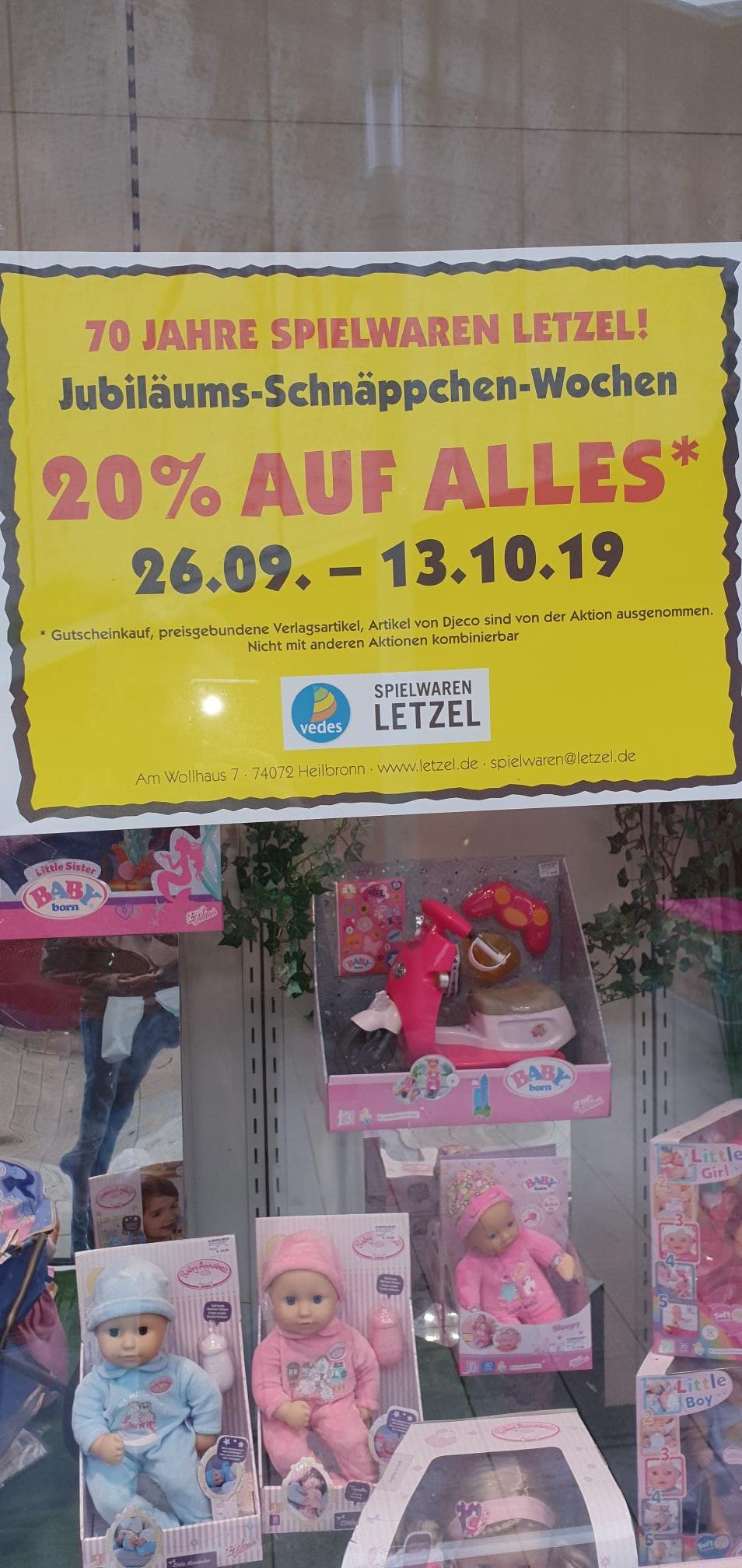 Letzel in Heilbronn, 20 % auf fast alles