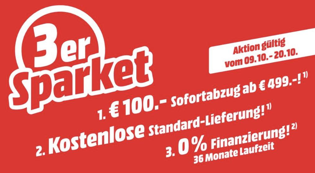 100€ Direktabzug & keine VSK für Haushaltsgroß- / Einbau- / Bodenpflegegeräte / Kaffeevollautomaten ab 499€