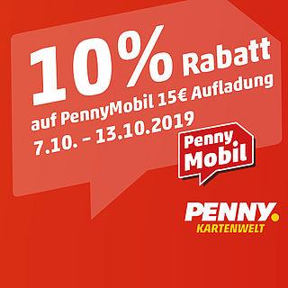 10% Rabatt auf 15€ Penny Mobil Guthaben (Telekom-Netz) [Penny Kartenwelt]