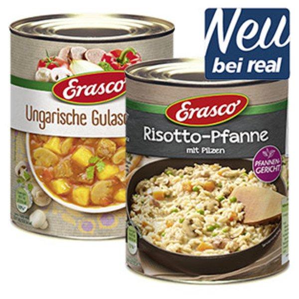 [Real] (1 Dose 0,29€) Erasco Pfannengerichte oder Neue Welten Eintöpfe mit Gutschein