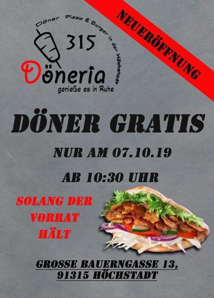 (Höchstadt) Gratis Döner zur Neueröffnung am 07.10