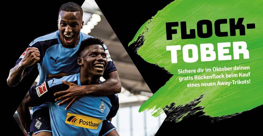 [LOKAL] Flock auf blauem Trikot gratis im Fanshop von Borussia Mönchengladbach im Oktober