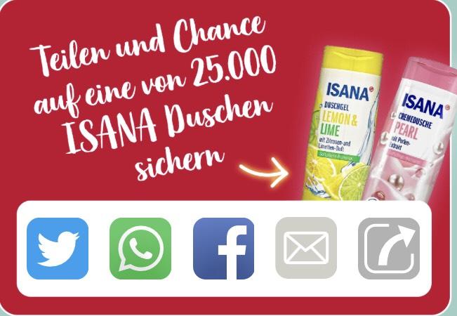 [Rossmann] Gratis Isana Duschgel für die ersten 25.000