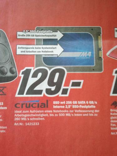 Crucial m4 256 GB SSD für 129 Euro im Media Markt und bei Amazon
