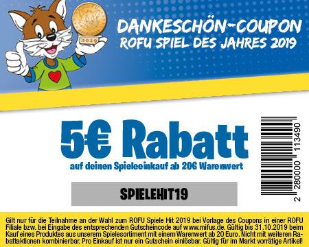 Dankeschön Coupon 5€ MBW: 20€